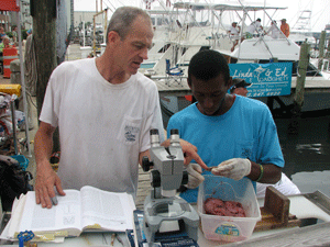 Paul Rudershausen and young scientist