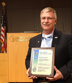 Dr. Green received a Lifetime Achievement Award in 2016 from the Atlantic Fisheries Technology Conference and the Seafood Sciences and Technology Society of the Americas.